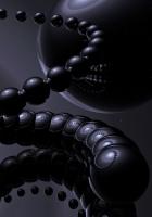 spiral, ball, black
