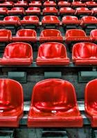 stadium, seats, red