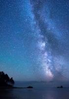stars, sky, shore