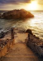 steps, ladder, descent