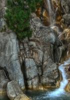 stones, falls, greens
