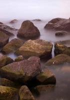 stones, water, sharp