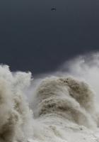 storm, tempest, lighthouse