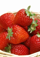 strawberry, basket, ripe
