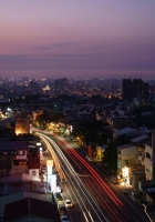 street, night, top view
