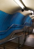 subway, down, stairs
