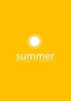 summer, inscription, sun