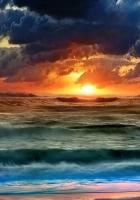 sun, water, sea