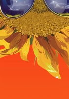 sunflower, glasses, flower