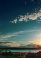 sunset, sky, clouds