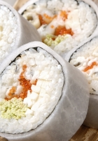 sushi, caviar, stuffing