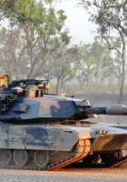 tank, weapons, road