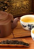 tea, teapot, tea leaves