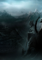 the elder scrolls skyrim, warrior, mountains