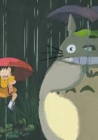 totoro, hayao miyazaki, rain