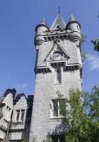 tower, clock, stone