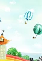 tower, flight, balloons