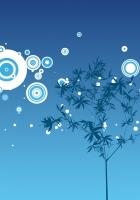 tree, circles, drawing