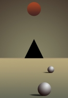 triangle, ball, background