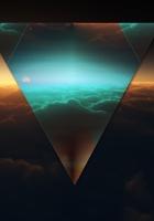 triangle, shape, dark