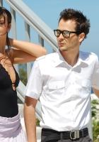 vika jigulina, sunlight, glasses