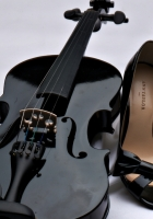 violin, shoes, mood