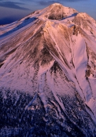 volcano, sleeping, snow