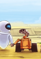 wall-e, eva, love