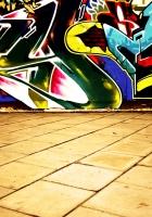 wall, graffiti, colorful