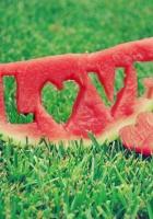 water-melon, inscription, love