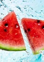 water-melon, pieces, segments