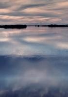 water, sky, evening
