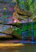 waterfall, river, colored