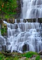 waterfall, stream, rocks