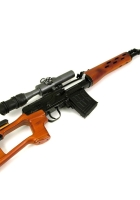 white background, weapon, svd