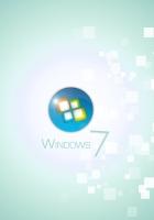windows 7, square, white