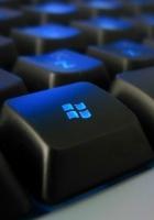 windows, keyboard, blue