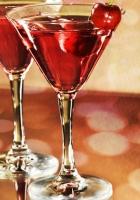 wine, glasses, cherry