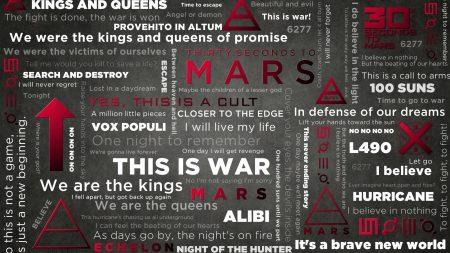 30 seconds to mars, words, symbol
