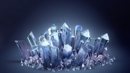 3d, crystal, crystals