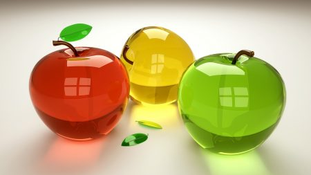 3d, fruit, glass