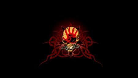 5 finger death punch, logo, skull