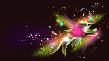 abstract, flower, glitter