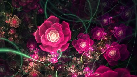 abstraction, fractal, pink