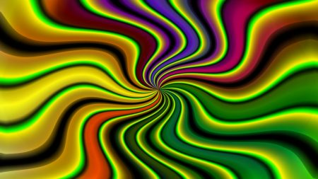 abstraction, illusion, colorful