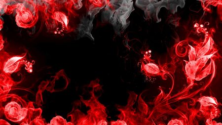 abstraction, red, smoke