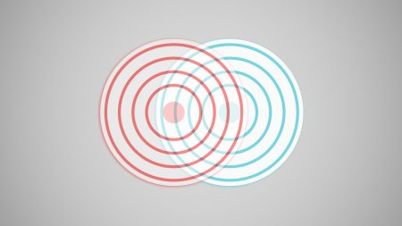 abstraction, target, red