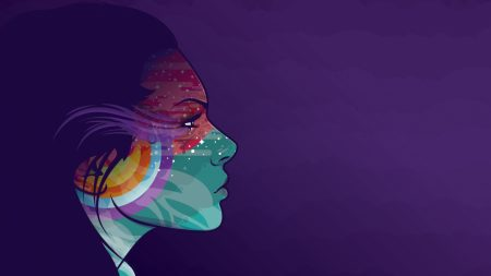 abstraction, vector, girl
