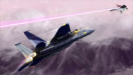 ace combat, f-15, su-47