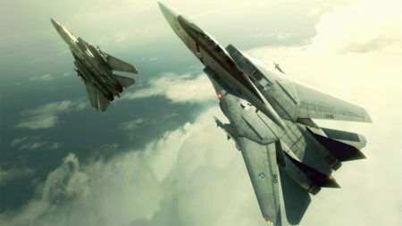 ace combat, fighters, clouds